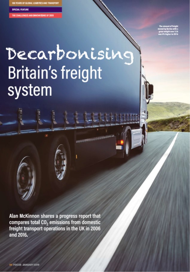 CILT article Decarb Britains freight