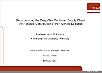 CO2 impacts of port-centric logistics