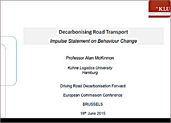 Decarbonising road transport