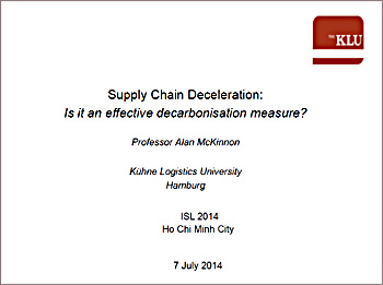 Decelerating supply chains
