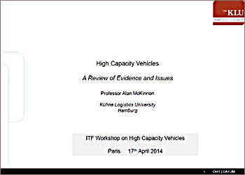 High-Capacity Vehicles – review of evidence (ITF Paris 17-04-2014)