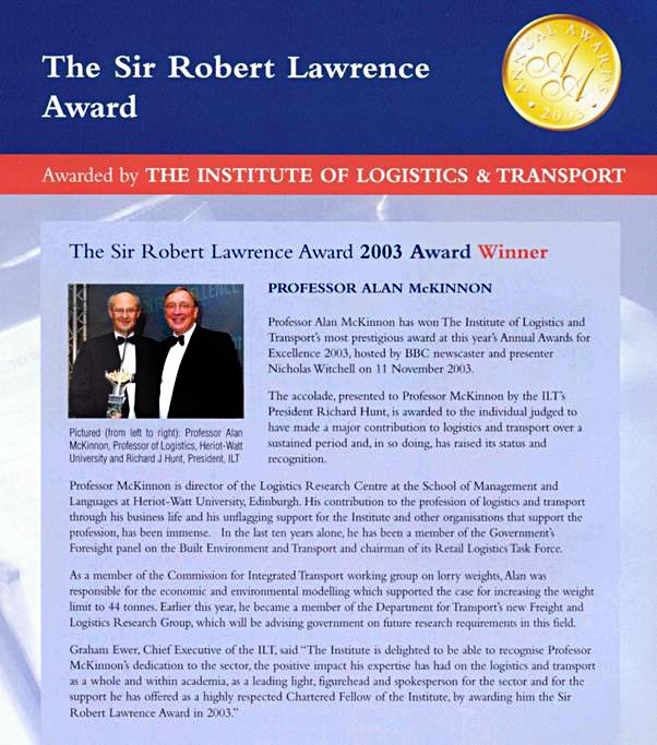 Sir Robert Lawrence award